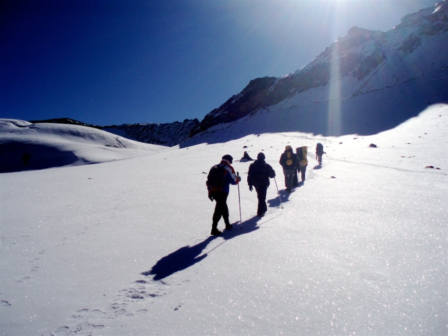 Snow shoe trekk, Raquettes, Snow trekking, Himalya, India, Manali, Himalayn Extreme Center